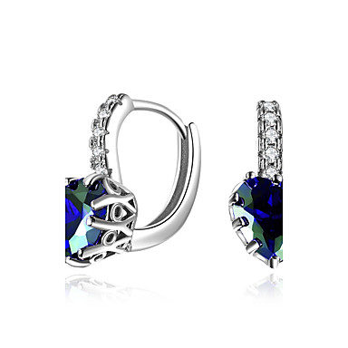 Women's Cubic Zirconia / Synthetic Diamond Clip Earrings - Zircon, Emerald Luxury, Natural, Hip-Hop Gold / Silver For Party / Graduation / Stage
