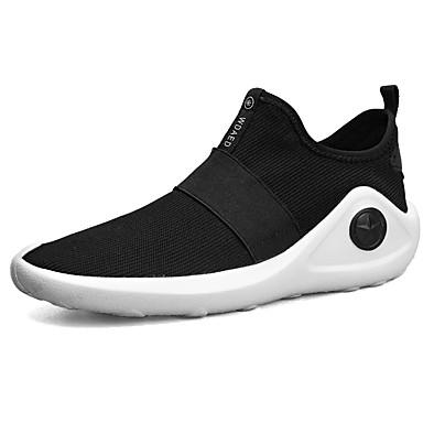 Férfi cipő Tüll Tél Ősz Kényelmes Tornacipők Futócipő Tépőzár mert Sport Hétköznapi Szabadtéri Fehér Fekete
