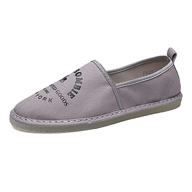للرجال أحذية PU ربيع / خريف نعال خفيفة المتسكعون وزلة الإضافات أبيض / رمادي / أحمر