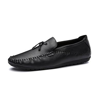 Férfi cipő Bőrutánzat Tavasz Ősz Kényelmes Papucsok & Balerinacipők Rojt mert Hétköznapi Hivatal és karrier Party és Estélyi Arany Fekete