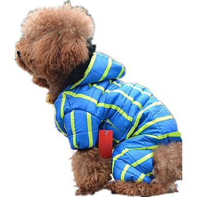 Hund Overall Hundekleidung Lässig/Alltäglich Streifen Blau Rosa