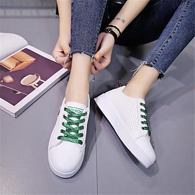 Damen Schuhe PU Frühling Komfort Sneakers Für Normal Rot Grün