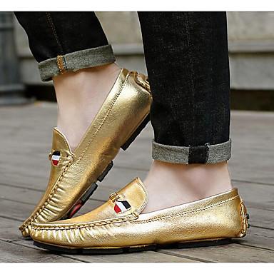 Herrn Schuhe Lackleder Frühling Komfort Loafers & Slip-Ons Gold / Silber / Grau