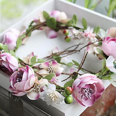 Tüll Sifon Anyag Műanyag Selyem Nettó Fejszalag Virágok 1 Esküvő Különleges alkalom Születésnap Party / estély Sisak