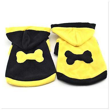 Hund Kapuzenshirts Hundekleidung Lässig/Alltäglich Schleife Schwarz Gelb Kostüm Für Haustiere