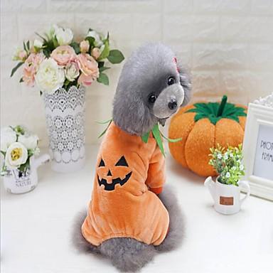 كلب كنزة ملابس الكلاب حفلة عطلة كاجوال/يومي الكوسبلاي الرياضات Halloween عيد الميلاد قرع أصفر كوستيوم للحيوانات الأليفة