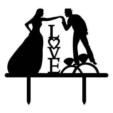 Tortenfiguren & Dekoration Strand Garten Schmetterling Klassisch Hochzeit Weinlese-Thema rustikales Theme Klassisches Paar Hochzeit Party