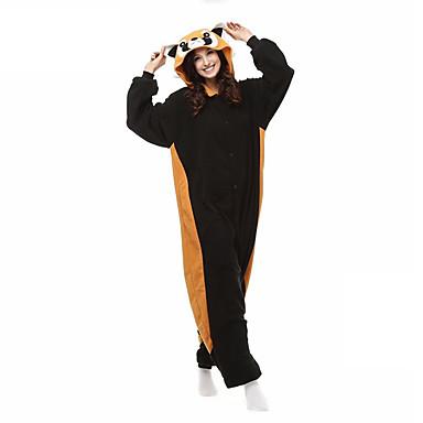 Kigurumi-Pyjamas mit Hausschuhen Bär / Waschbär Pyjamas-Einteiler Kostüm Korallenfleece Orange Cosplay Für Erwachsene Tiernachtwäsche