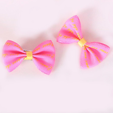 Dog Hair Accessories Dog Clothes Bowknot Blue / Pink / Light Blue Fabric Costume For Pets Men's / Women's Casual / Daily