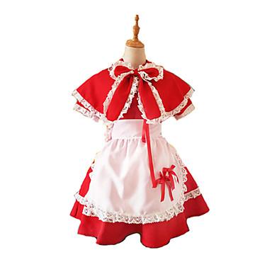 Cosplay Kostüme Maskerade Märchen Cosplay Fest/Feiertage Halloween Kostüme Andere Vintage Kleider Schürze Schleife UmhangHalloween