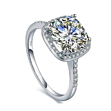 Women's Cubic Zirconia Ring - Zircon Fashion 5 / 6 / 7 Silver For Party / Daily / Casual