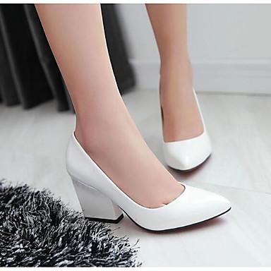Damen Schuhe Echtes Leder PU Frühling Sommer Komfort Pumps High Heels Für Normal Weiß Schwarz Beige Gelb Rot