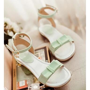 Damen Schuhe PU Frühling Sommer Komfort Flache Schuhe Für Normal Weiß Gelb Grün Rosa