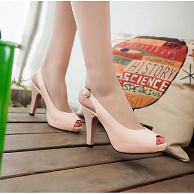 Damen Schuhe PU Sommer Komfort Sandalen Für Normal Weiß Schwarz Rosa