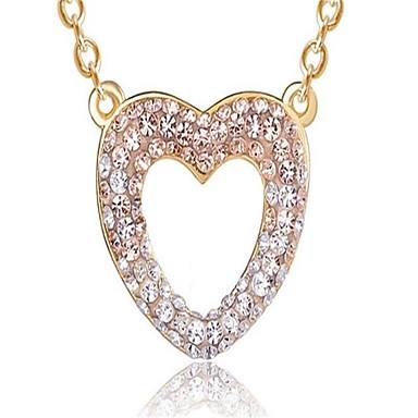 Damen Kubikzirkonia Anhängerketten - Herz Personalisiert, Modisch Rosa Modische Halsketten Für Hochzeit, Party, Geburtstag