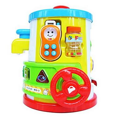 آلات موسقية آلعاب ألعاب الموسيقى والضوء دائري كرتون بيضوي البلاستيك البلاستيك الجامد قطع للأطفال للجنسين هدية