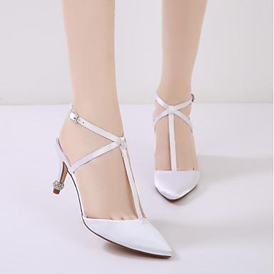 mariage de Chaussures Femme Cône Cheville Chaussures Printemps Eté 06135860 Escarpin Talon Bas de Basique Confort Bride Satin Talon Pq7PnxR