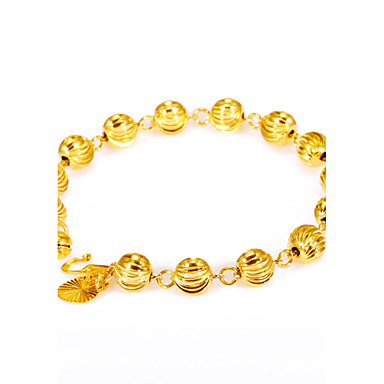 Men's / Women's Gold Plated Chain Bracelet - Personalized / Vintage / Fashion Round / Geometric / Irregular Gold Bracelet For Party /