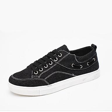 Herrn Schuhe Denim Jeans Frühling / Sommer / Herbst Leuchtende Sohlen / Komfort Sneakers Walking Schwarz / Grau / Blau