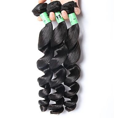 Maláj haj Laza hullám / Klasszikus Emberi haj sző 3 darab Az emberi haj sző Napi