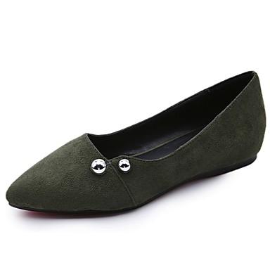 Női Cipő Kasmír Ősz Kényelmes Lapos Lapos Erősített lábujj Szegecs mert Ruha Fekete Szürke Zöld
