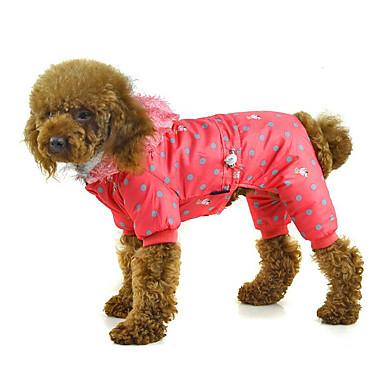 Hund Overall Hundekleidung Punkt Orange Fuchsia Rosa Baumwolle Daune Kostüm Für Haustiere Herrn Damen Lässig / Alltäglich