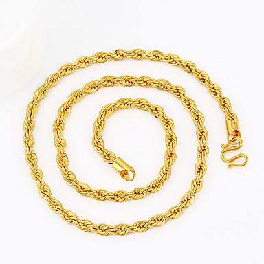 Men's Geometric Chain Necklace - Gold Plated Snake Statement, Personalized, Punk Gold Necklace Jewelry For Christmas, Gift, Casual
