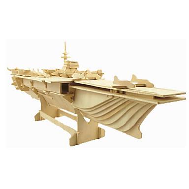 voordelige 3D-puzzels-3D-puzzels Legpuzzel Houten modellen Vechter Beroemd gebouw Huis Puinen Natuurlijk Hout Unisex Speeltjes Geschenk