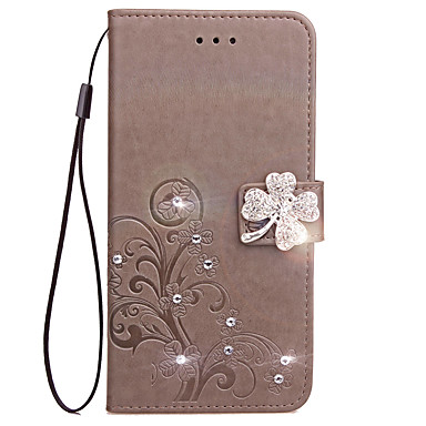 Case For Nokia Lumia 925 Nokia Lumia 630 Nokia Lumia 640 Nokia Nokia Lumia 530 Card Holder Wallet Rhinestone with Stand Flip Embossed
