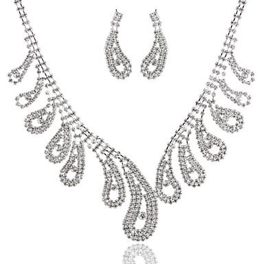 Damen Diamantimitate Halsketten - Grundlegend Modisch Geometrische Form Silber Modische Halsketten Für Hochzeit Party Geburtstag