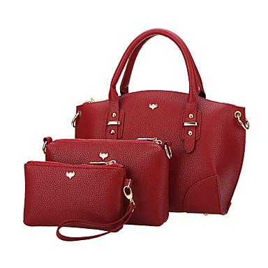 Damen Taschen PU Bag Set für Hochzeit Veranstaltung / Fest Normal Formal Ganzjährig Schwarz Rote Grau