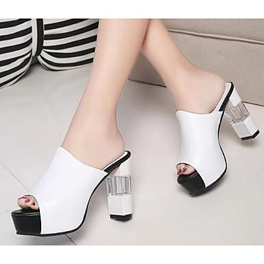 Damen Schuhe PU Sommer Komfort Pumps Sandalen für Normal Weiß