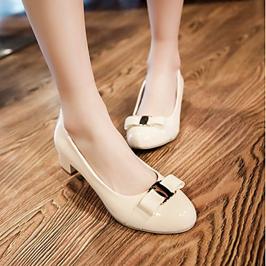 Bottier 06171917 à Polyuréthane Femme Chaussures Bout Chaussures Nouveauté Noeud Synthétique Eté Confort rond Automne Talons Noir Talon FFHwSaqP