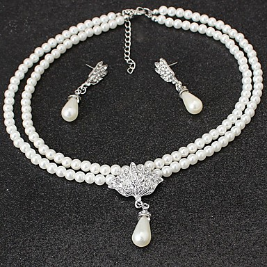 Women's Jewelry Set - Imitation Pearl Classic, Vintage, Simple Style Include Necklace Beige For Wedding Party Birthday / Engagement