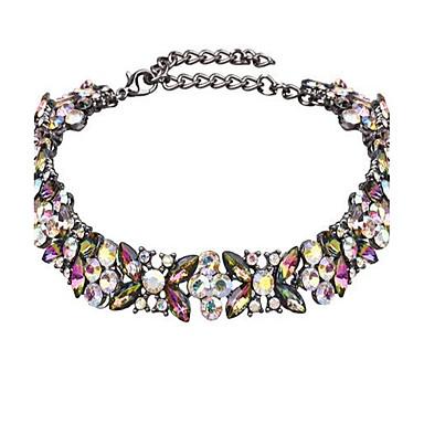 Damen Halsketten Blumenform Aleación Modisch Einstellbar individualisiert überdimensional Schmuck Für Party Bühne Klub