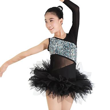 Ballet Outfits Dames / Kinderen Prestatie elastan / Polyester / Kant / Lovertjes / Tule Pailetten / Kant / Pailletten 3-deligMouwloos /