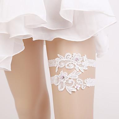 Elasztikus Lábmelegítők Party Szexi Esküvő Wedding Garter  -  Gyöngy Harisnykötők