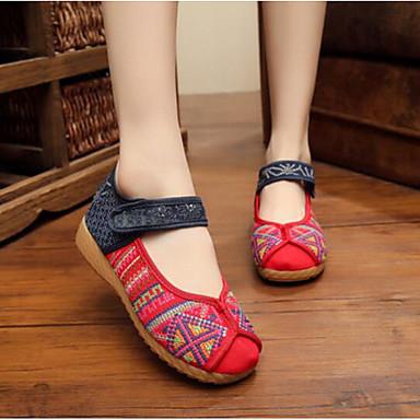 Damen Schuhe Stoff Sommer Komfort Loafers & Slip-Ons Für Normal Schwarz Rot