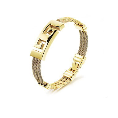 Men's Bracelet Bangles - Stainless Steel Rock, Gothic, Fashion Bracelet Jewelry Gold For Party Birthday Party / Evening Gift Evening Party
