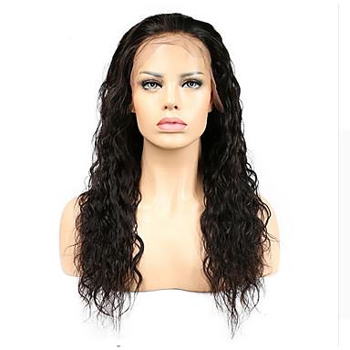 Emberi haj Csipke eleje / Tüll homlokrész Paróka Göndör 130% Sűrűség Professzionális írás / új / Lehet használni, száraz-nedves Rövid /