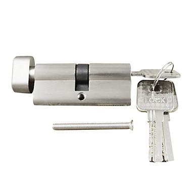 bloqueio polegar cilindro de 70 milímetros por sua vez cilindro (35/35), cilindro de bloqueio com o botão com 3 chaves, níquel escova