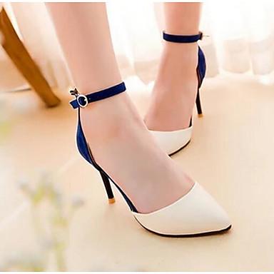 Damen Schuhe PU Frühling Sommer Komfort Sandalen Für Normal Schwarz Rot Blau