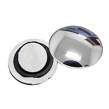 ziqiao 1 stk bil bakspeilet liten runde speil vidvinkel justerbar visuell konveks overflate med roterende plate