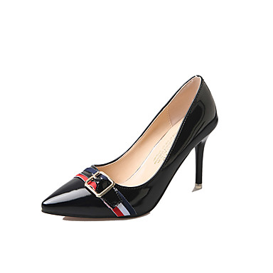 Damen High Heels Komfort Sommer Gummi Walking Schnalle Block Ferse Schwarz Beige Grün Rosa Unter 2,5 cm