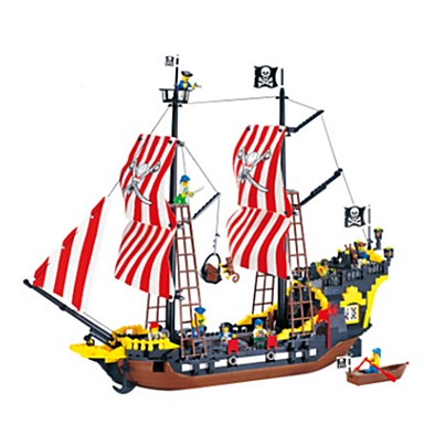 ENLIGHTEN Építőkockák Kalóz Hajó Uniszex Fiú Lány Játékok Ajándék