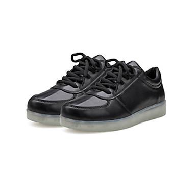 Unisex Kengät Mokkanahka Kevät Syksy Comfort Crib Shoes Nilkkahihna Välkkyvät kengät Lenkkitossut Kävely Tasapohja Pyöreä kärkinen