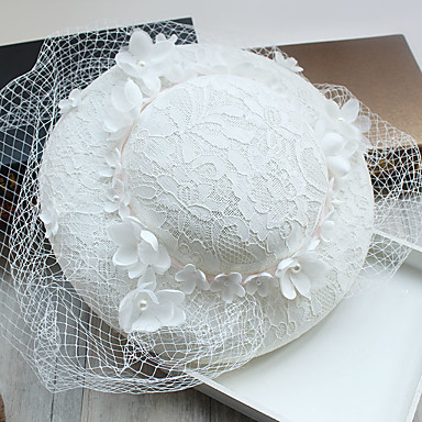 Tulle / Imitation Pearl / Lace Fascinators / Hats with 1 Wedding / Special Occasion / Birthday Headpiece
