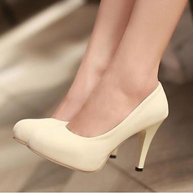 Damen Schuhe PU Frühling Komfort High Heels Für Normal Schwarz Beige Rot Grün