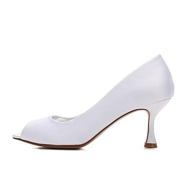 Printemps 06096587 Aiguille Talon Heel Chaussures Bas Confort mariage Talon de Chaussures Basique Femme Satin Escarpin Kitten Bout Eté ZBqnTEx