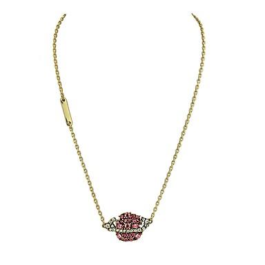 Női Szív Szintetikus gyémánt Strassz Nyaklánc medálok  -  Alap Szerelem Arany Nyakláncok Kompatibilitás Ajándék Napi Hétköznapi